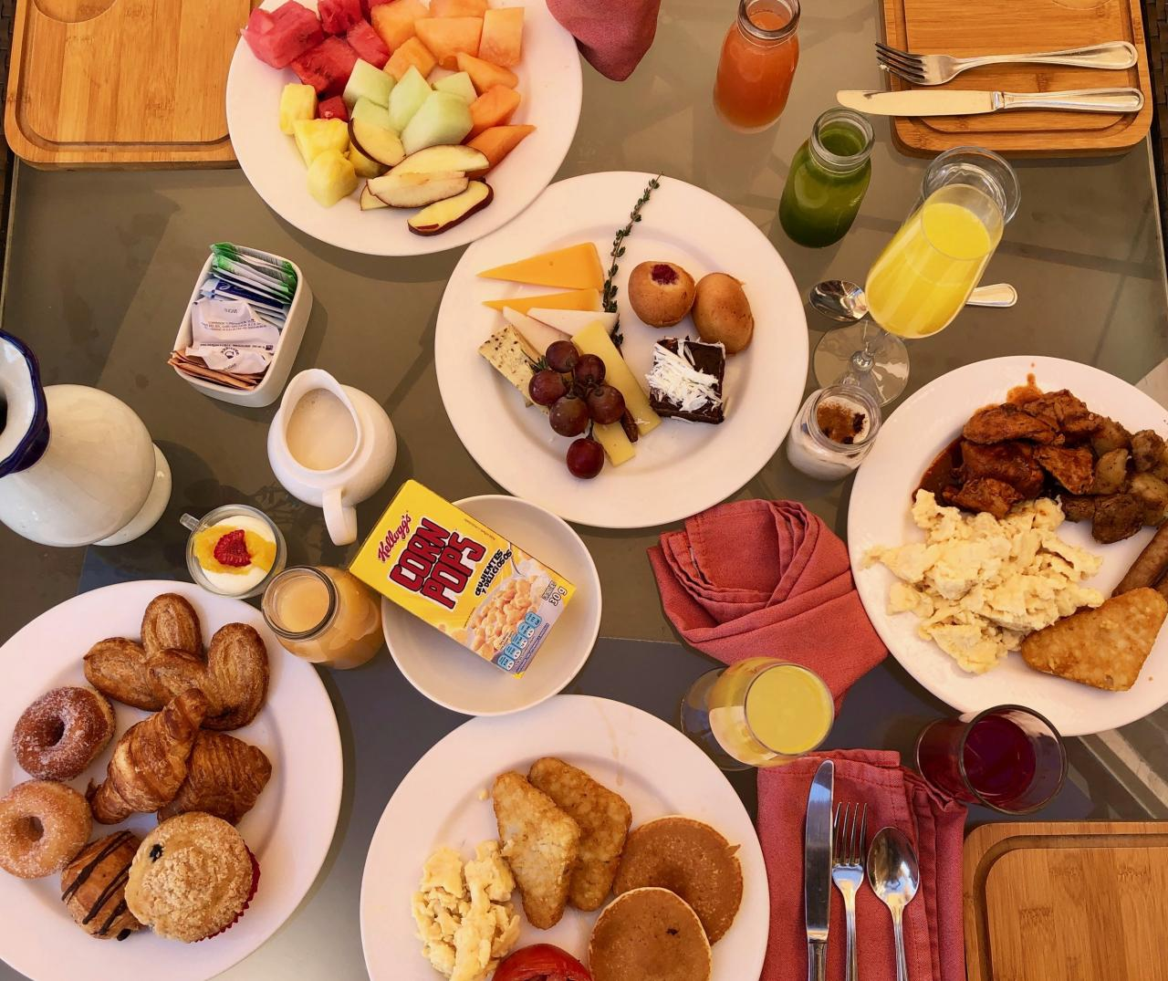 Only one pic of all the amazing food we had at our breakfast.