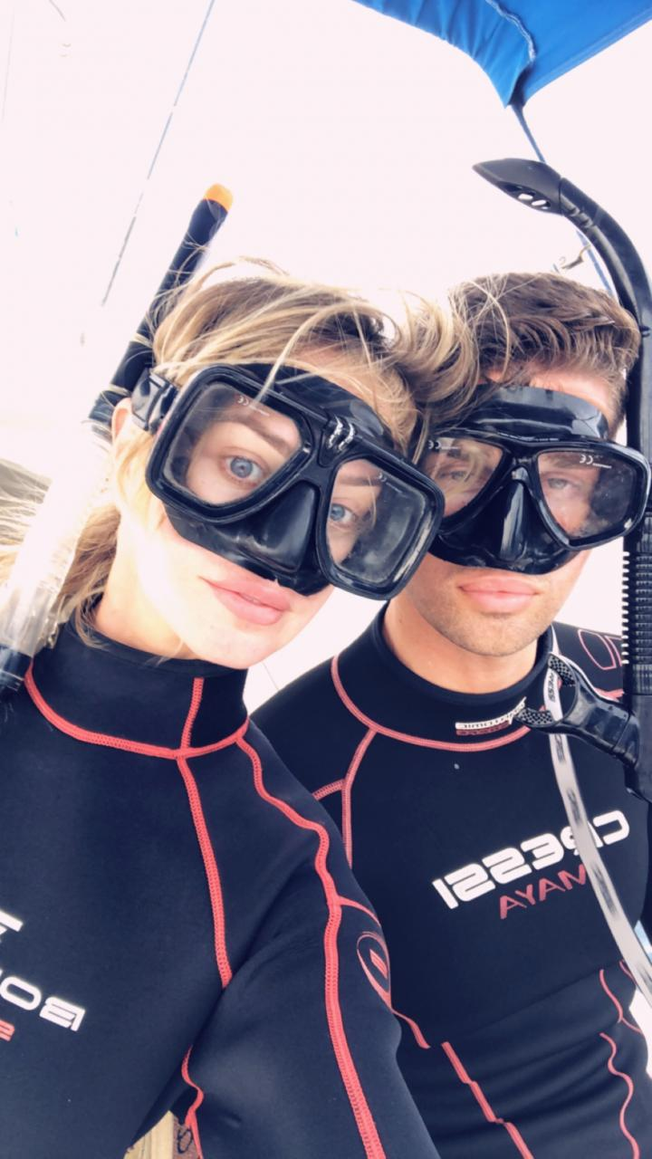 The goggles gave us duck lips!